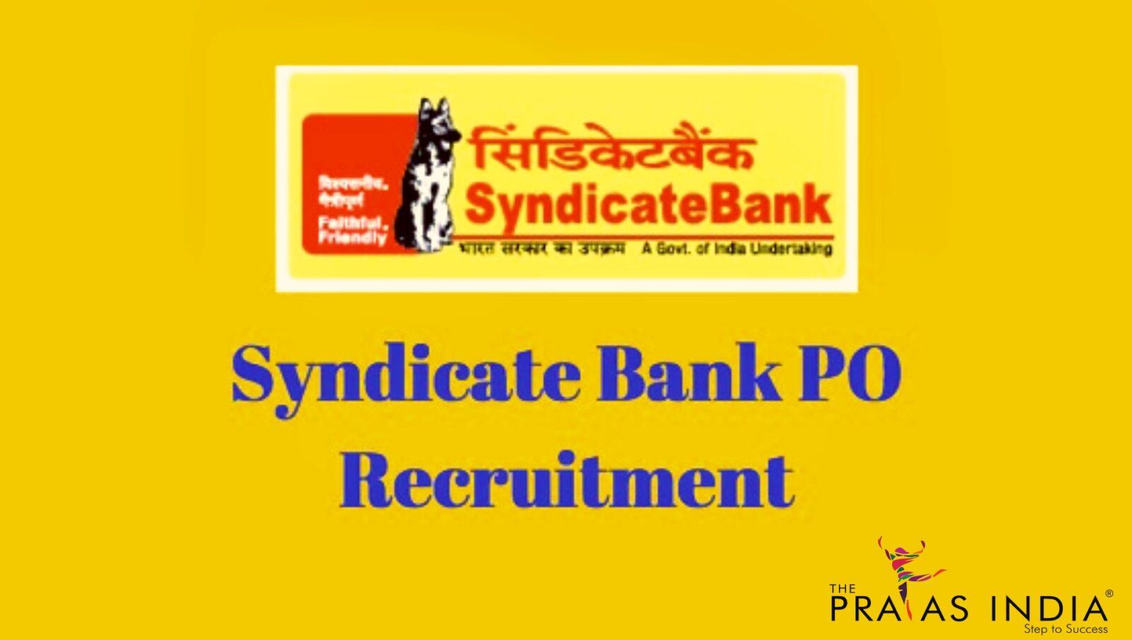 syndicate bank po recruitment 2014-15 exam date